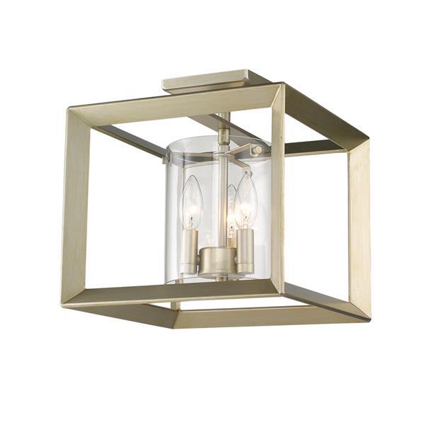 Golden Lighting Smyth Semi-Flush Light - White Gold