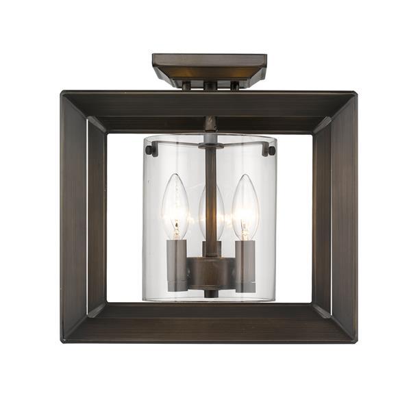 Golden Lighting Smyth Semi-Flush Light - Gunmetal Bronze