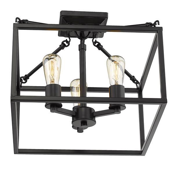 Golden Lighting Wesson Semi-Flush Light - Black