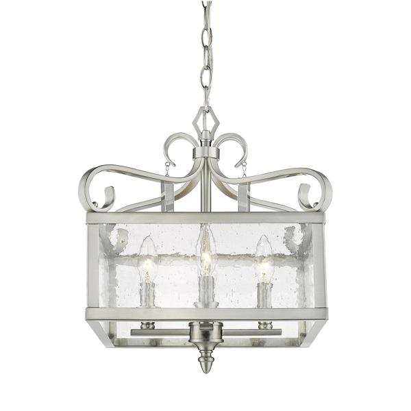 Golden Lighting Valencia Semi-Flush Convertible Light - Pewter