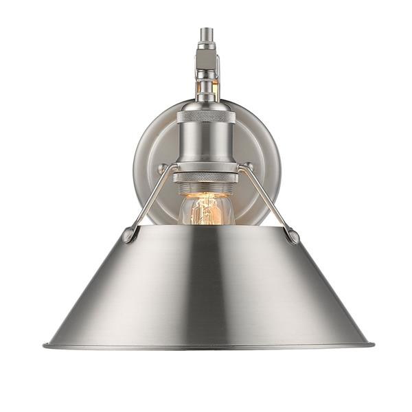Golden Lighting Orwell 1 Light Wall Sconce in Pewter with Pewter Shade