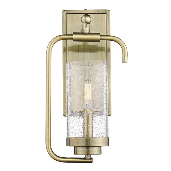 Golden Lighting Holden 1-Light Wall Sconce in Aged Brass