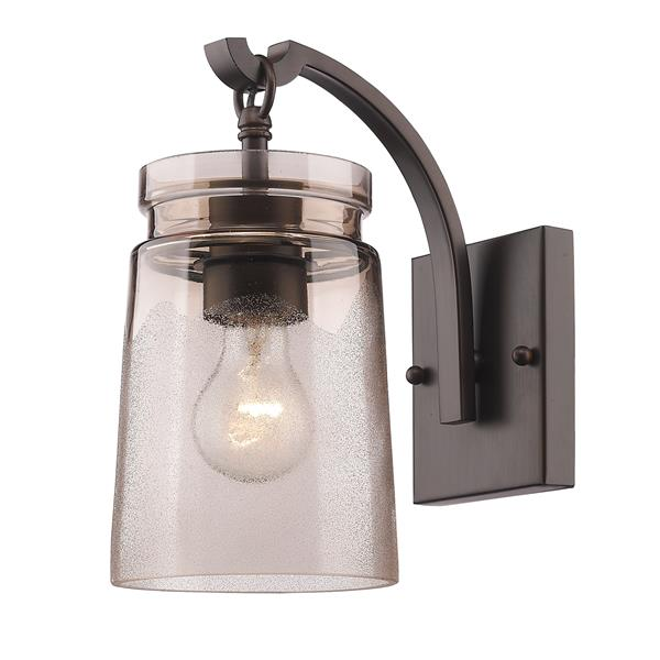 Golden Lighting Travers 1 Light Wall Sconce in Rubbed Bronze
