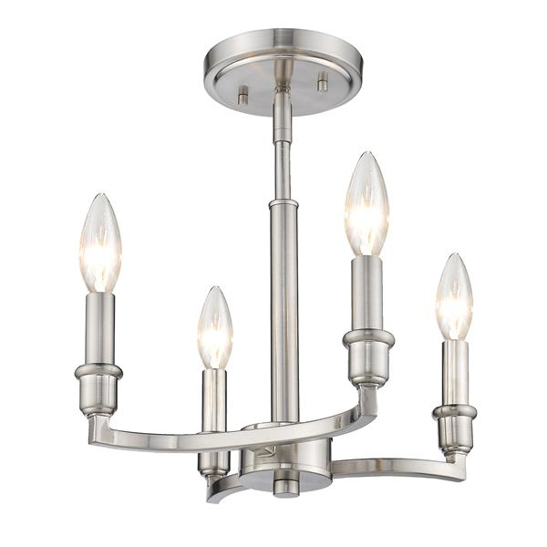 Golden Lighting Ellyn 4-Light Pendant Light - Pewter