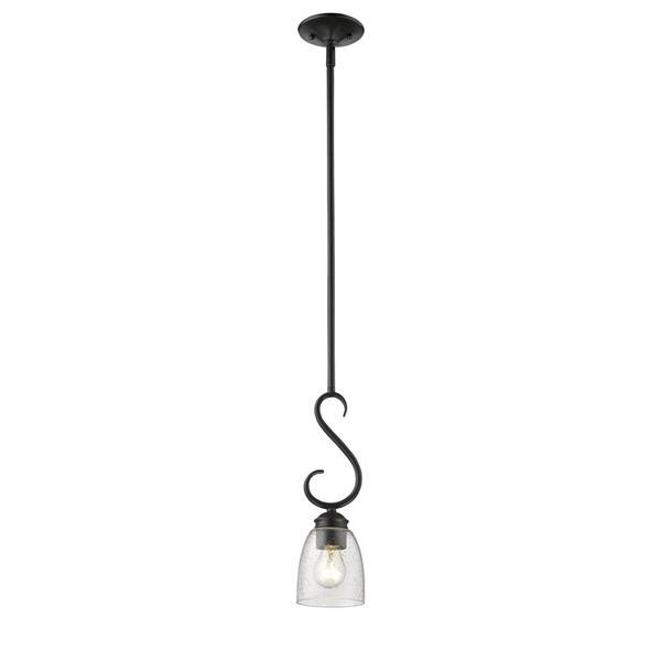Golden Lighting Parrish Mini Pendant Light - Black