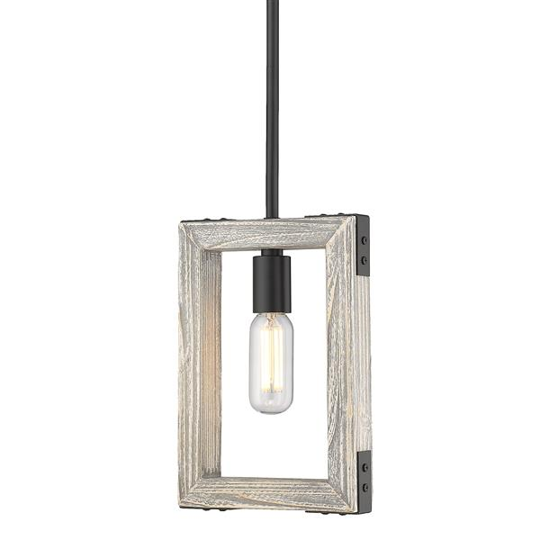 Golden Lighting Lowell Mini Pendant Light - Black