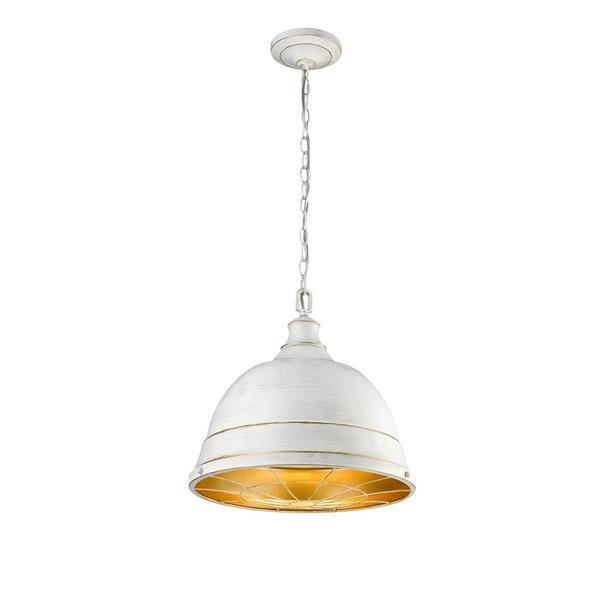 Golden Lighting Bartlett Large Pendant Light - French White