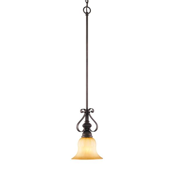 Golden Lighting Mayfair Mini Leather Pendant Light - Brulee