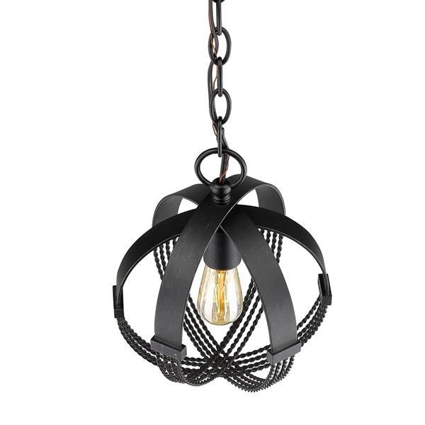 Golden Lighting Carter Mini Pendant Light - Aged Bronze