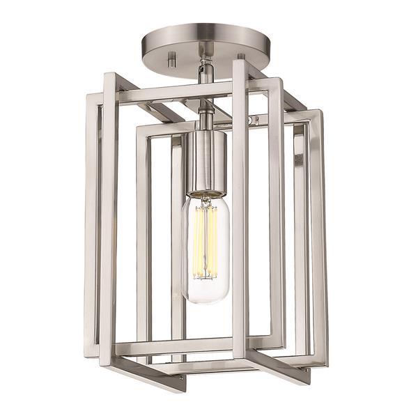 Golden Lighting Tribeca 1-Light Semi-Flush Light - Pewter