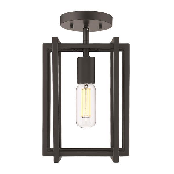 Golden Lighting Tribeca 1-Light Semi-Flush Light - Black