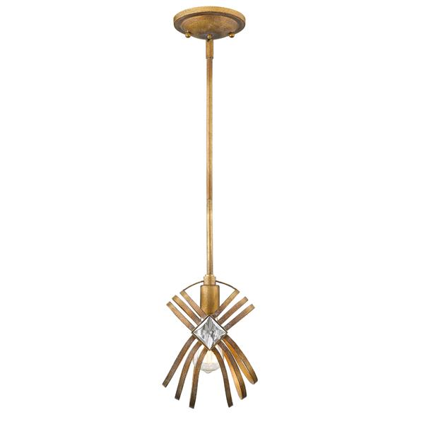Golden Lighting Signet Mini Pendant Light - Royal Gold