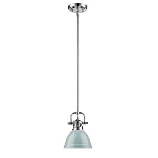 Golden Lighting Duncan Mini Pendant Light with Rod - Chrome