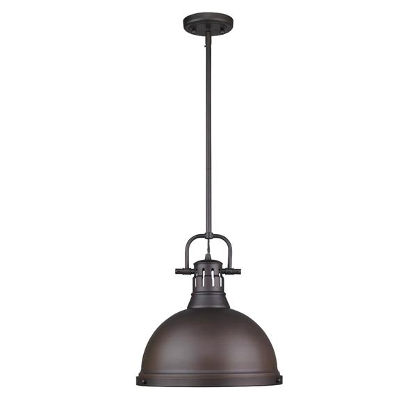 Golden Lighting Duncan 1-Light Pendant Light Rod - Bronze