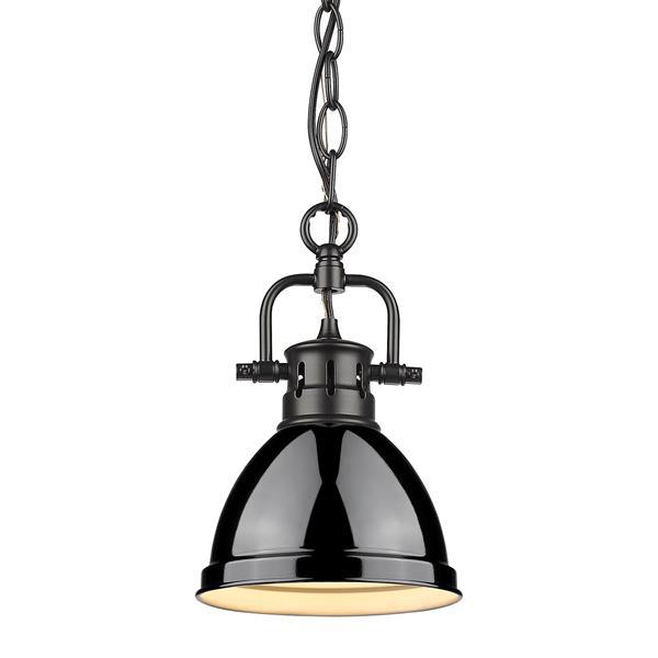 Golden Lighting Duncan Mini Pendant Light Chain Light - Black