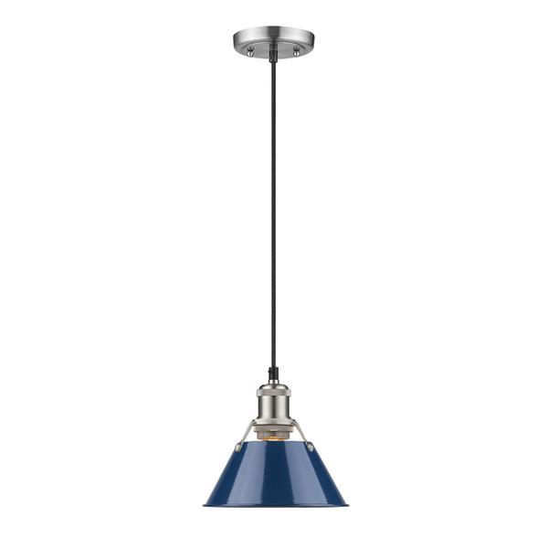Golden Lighting Orwell PW Mini Pendant Light - Pewter