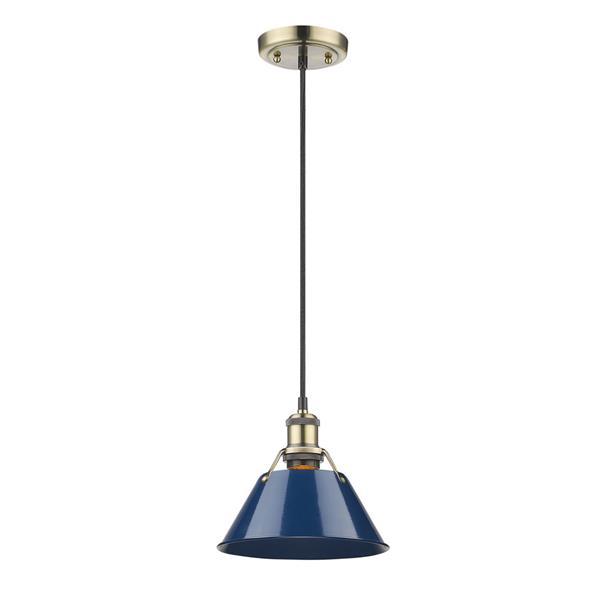 Golden Lighting Orwell AB Mini Pendant Light - Aged Brass
