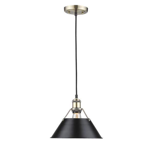 Golden Lighting Orwell AB 1-Light Pendant Light - Aged Brass