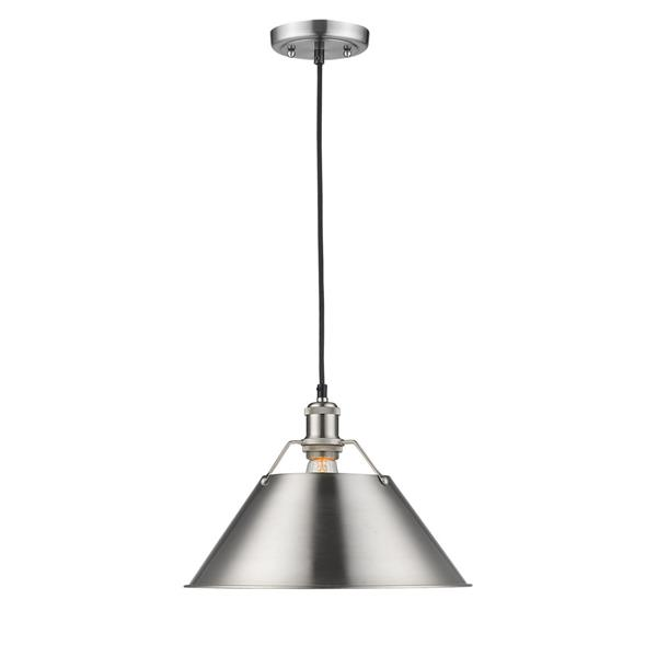 Golden Lighting Orwell PW 1-Light Pendant Light - Pewter