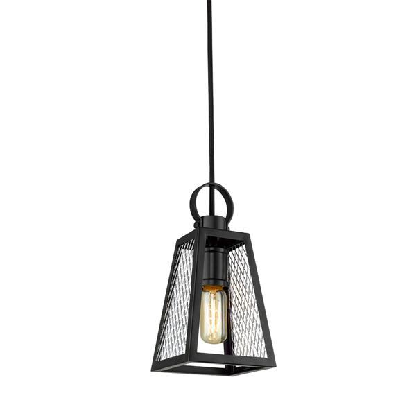 Golden Lighting Abbott Small Pendant Light - Black