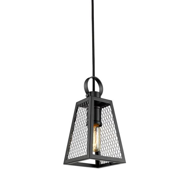 Golden Lighting Abbott Small Pendant Light - Black