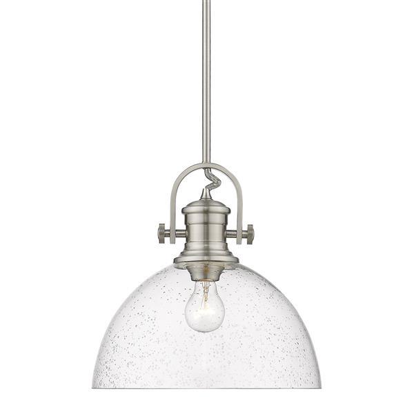 Golden Lighting Hines 1-Light Pendant Light - Pewter