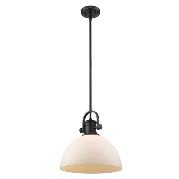 Golden Lighting Hines 1-Light Pendant Light - Black