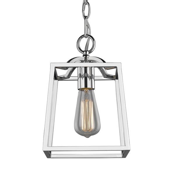 Golden Lighting Athena Mini Pendant Light - Chrome