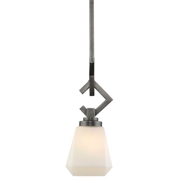 Golden Lighting Hollis Mini Pendant Light - Aged Steel