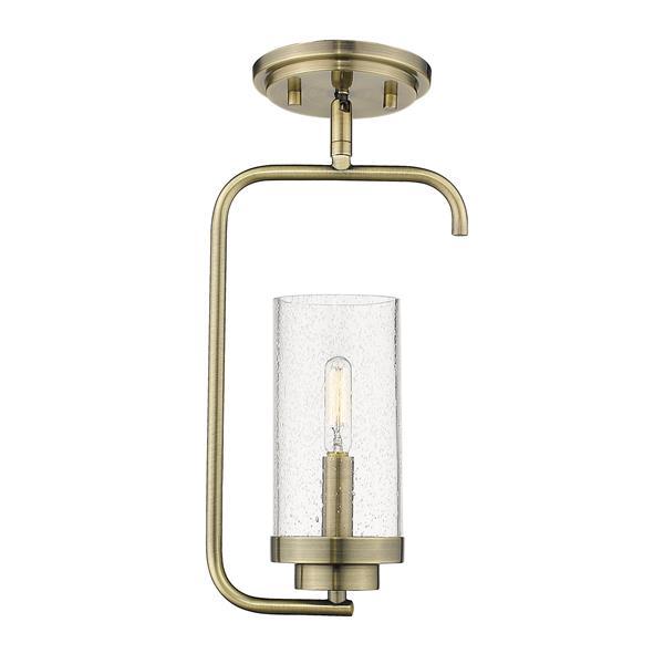 Golden Lighting Holden Mini Pendant Light - Aged Brass