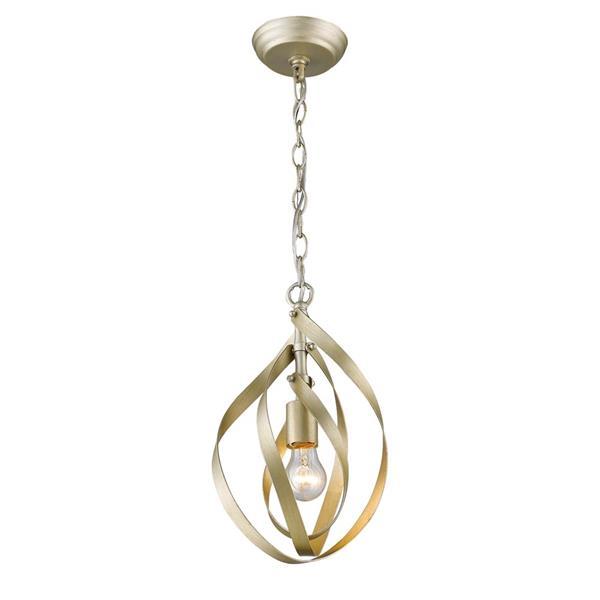 Golden Lighting Nicolette Mini Pendant Light - White Gold