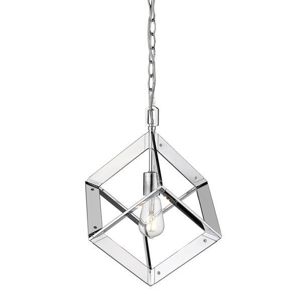Golden Lighting Architect Mini Pendant Light - Chrome