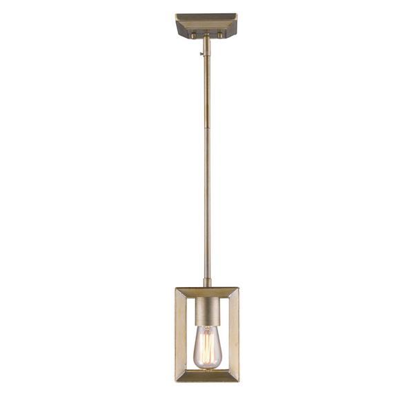 Golden Lighting Smyth Mini Pendant Light - White Gold