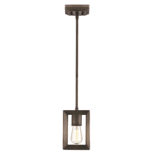 Golden Lighting Smyth Mini Pendant Light - Gunmetal Bronze