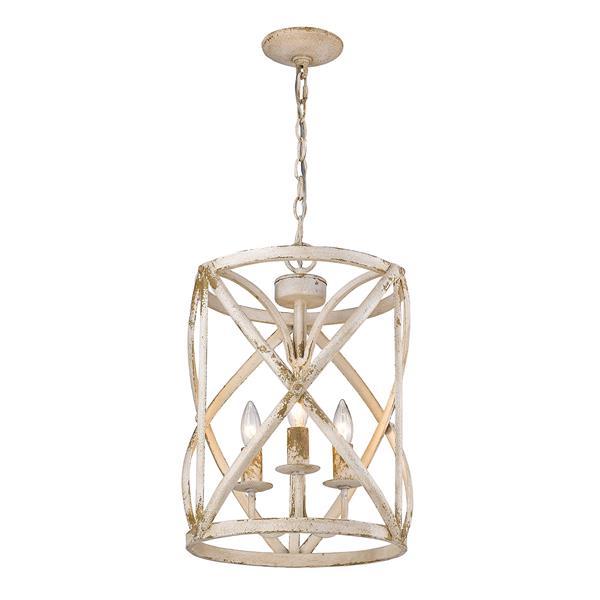 Golden Lighting Alcott 3-Light Pendant Light - Antique Ivory
