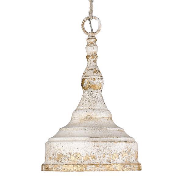 Golden Lighting Keating 1-Light Pendant Light - Antique Ivory