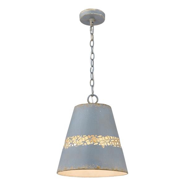 Golden Lighting Isabel 1-Light Pendant Light - Colonial Blue