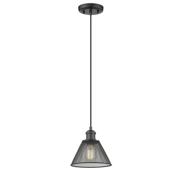 Golden Lighting Carver 1-Light Pendant Light - Black