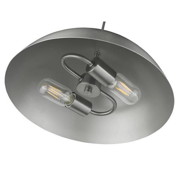 Golden Lighting Walker 2-Light Pendant Light - Aged Steel