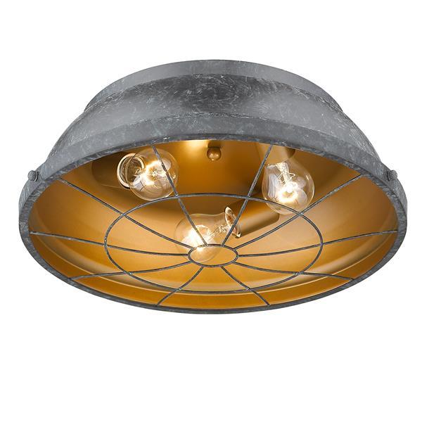 Golden Lighting Bartlett Flush Mount Light - Black