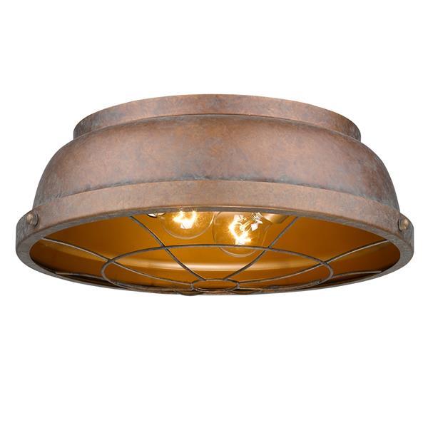 Golden Lighting Bartlett Flush Mount Light - Copper