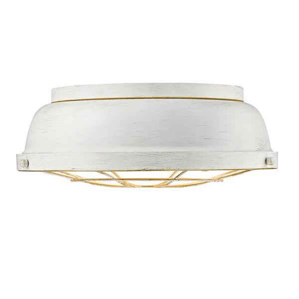 Golden Lighting Bartlett Flush Mount Light - French White