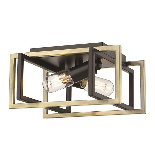 Golden Lighting Tribeca Flush Mount Light - Black