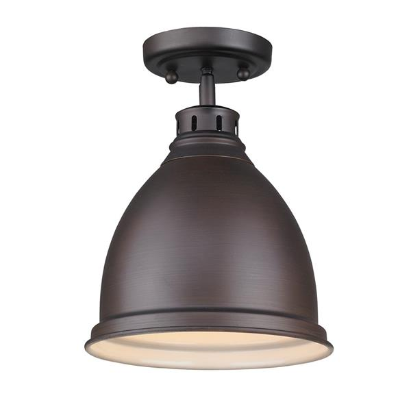 Golden Lighting Duncan Flush Mount Light - Rubbed Bronze