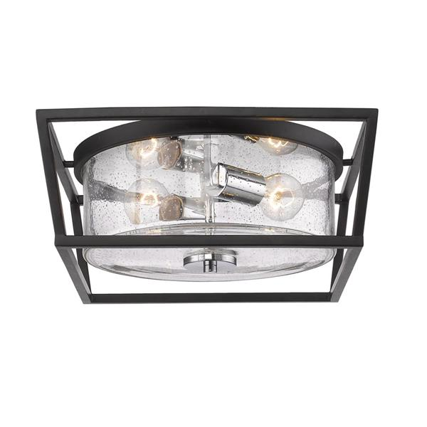 Golden Lighting Mercer Flush Mount Light - Black