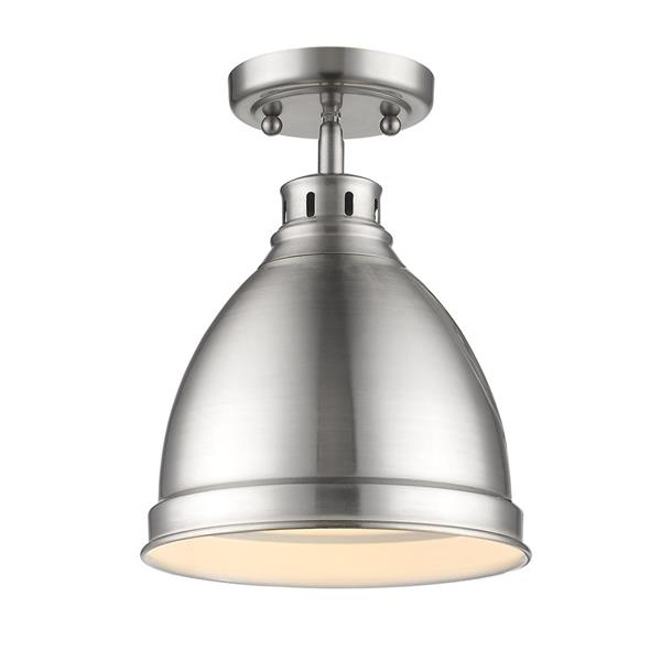 Golden Lighting Duncan Flush Mount Light - Pewter