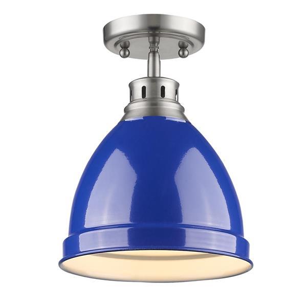 Golden Lighting Duncan Flush Mount Light - Pewter