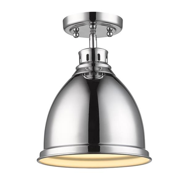 Golden Lighting Duncan Flush Mount Light - Chrome