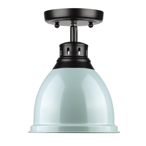 Golden Lighting Duncan Flush Mount Light - Black