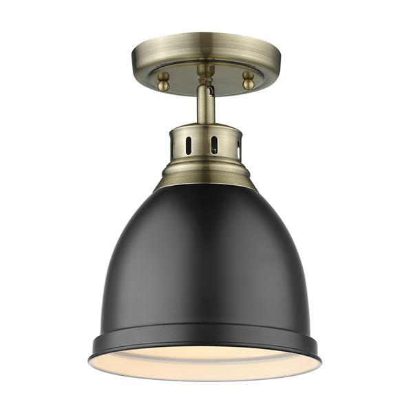 Golden Lighting Duncan Flush Mount Light - Aged Brass